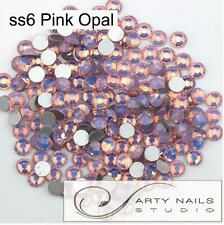 ss6 (1.9-2.1mm) Pink Opal NON-hotfix Rhinestones, 1440pcs/Lot, Flat Back Glue On