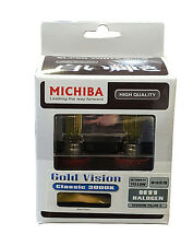 Michiba H11 12v 55w 3000K Bombillas de visión de oro (amarillo)