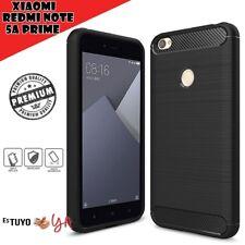 Funda para Xiaomi Redmi Note 5A Prime rugged armor carcasa efecto carbono-Negro