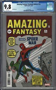 Amazing Fantasy #15 CGC 9.8 Facsimile Edition REPRINT