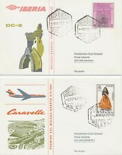 SPANIEN 1967 IBERIA-Erstflug m DC-9 + Swissair-Erstflug Caravelle MALAGA - GENF