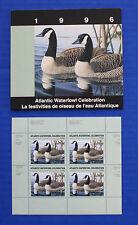 Canada (AWC02M) - 1996 Atlantic Waterfowl Celebration minisheet of 4 (MNH)