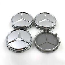 4X 75mm Wheel Center Caps Silver Fit Mercedes-Benz W203 W204 W124 W211 W212