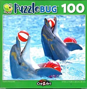 Dolphins Playing Ball - 100 Piece Jigsaw Puzzle