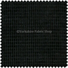 New Plain Textured Furnishing Material Brick Effect Corduroy Fabric Black Colour