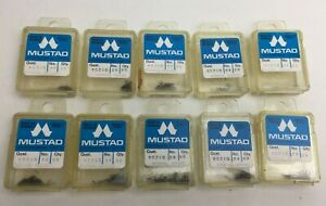 Mustad 10x Boxes of 50 - Kendal Round Size 24 Fishing Fish Hooks 90210 Angling
