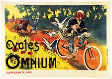 Cycles Omnium - Original Vintage Bicycle Poster - Cycling - Vidal