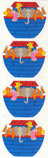 Mrs. Grossman's Stickers - Noah's Ark - Ark w/ Giraffe, Hippo, Lion ++- 4 Strips