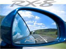 RX8 Mazda Sticker Decal Etched Glass Effect for Mirror Style