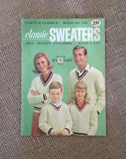 COATS & CLARKS Classic Sweaters Pattern Book No 145 c. 1964 Red Heart Yarns