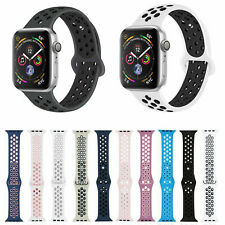 For Apple iWatch Nike+ Silicone Sport Band 44mm 42mm 40mm 38mm Series 5 4 3 2 1