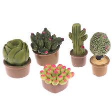 2PCS 1:12 Miniature Green Plants Decoration Dollhouse Furniture Accessories