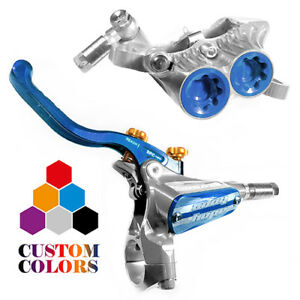 Hope Tech 3 V4 Front and Rear Brakes w/ Braided Hose - CUSTOM COLORS - New