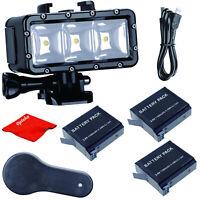 Opteka Underwater Dive LED Video Light for GoPro HERO 7 6 5 4 3 Black Silver