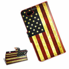 Stand Leather Case Flip Fold Wallet Phone Cover For Sony Xperia Z1 Compact Mini