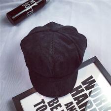 5775bdd2 Baker Boy Hat Newsboy Cap Corduroy Stripe Ladies Hat Girls Women Accessories