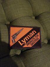 Lyman Ammunition Reloading Equipment Shooting Hunting Vintage Patch Pistol 1878