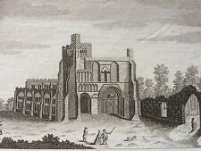 c.1770 Print of Dunstable Priory Church  , Bedfordshire