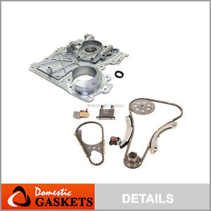 Timing Chain Kit Timing Cover Fit 02-07 GMC Chevrolet Hummer Isuzu 3.5 4.2