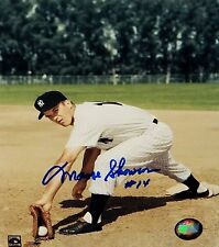 Moose Skowrone Autographed 8x10 Ny Yankees Posing At Plate Photo-Mlb Auth