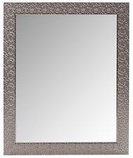 MOSAICO ARGENTO MODERNO ESK Specchio Parete Rettangolo Nuovo Bagno Hall Camera da Letto 60x50cm