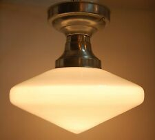 Art Deco Flush Mount Light Fixture Conical Shade Schoolhouse Diner Indianapolis