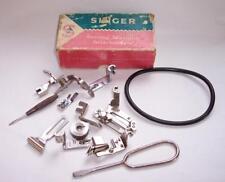 Vintage SINGER SEWING MACHINE ACCESSORIES/Attachments In Original Box