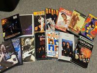 *DVD/VHS CONCERT VIDEO LOT* 14 Videos The Beatles/Elvis/U2/Blue Man Group/Judds+