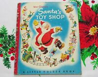 Vintage 1950 Little Golden Book Santa's Toy Shop 1st Edition Walt Disney Studio
