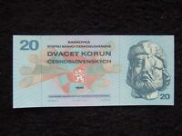 CZECHOSLOVAKIA 20 KORUN - CROWNS 1970 UNC. GREAT SPECIMEN -Great Buy!
