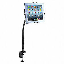 CTA DIGITAL Steel Gooseneck Clamp Mount for Tablets, PAD-GCM, Black