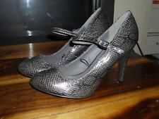 NEXT Woman High Heel Shoes - SIze 7 uk - Grey Black Snake print vgc