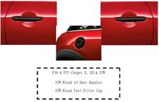 Genuine Brand New MINI BLACKLINE Door Handles & Fuel Filler F56 & F57