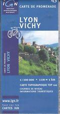 IGN Lyon-Vichy carte de promenade [Bon état]