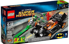 New LEGO DC Comics 76012 Super Heroes 3 Minifigures Batman Flash Riddler &2 Cars