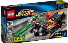 New LEGO DC Comics 76012 Super Heroes 3 Minifigures Batman Flash Riddler &2 Cars