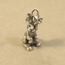 .925 Sterling Silver 3-D JACKALOPE CHARM NEW Rabbit Horns Pendant 925 AN116