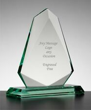 Personalised Engraved Arrow Jade Glass  Award Trophy, Golf, Fishing, Boxing Gift