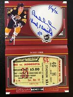 2017-18 The Cup BOBBY ORR Autographed Ticket Booklet Boston Bruins 2/3