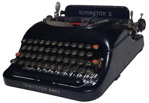 Antique 1937 Remington No. 5 Portable Typewriter with Original Case