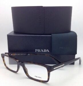 New PRADA Rx-able Eyeglasses VPR 15Q 2AU-1O1 54-17 Havana Frame w/ Clear Lenses