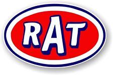 Oval Retro RAT Ratlook Ratrod Scene STP Patina Style Vinyl car sticker Decal