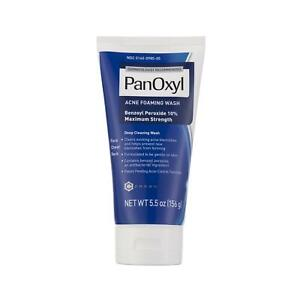 PanOxyl Acne Foaming Wash Benzoyl Peroxide 10% 5.5oz | Acne Support | exp 02/23