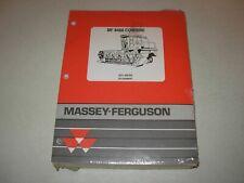 Massey Ferguson MF 8460  Combine Parts Manual , issued 1995