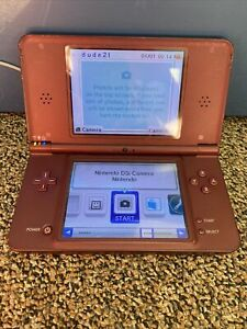 Nintendo DSi XL Handheld System Burgundy Tested Working