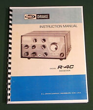"Drake R-4C Instruction Manual: 11"" x 17"" Foldout Schematic & Protective Covers!"