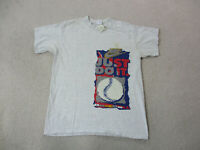 VINTAGE Nike Shirt Adult Large Gray Blue Just Do It Swoosh Baseball Mens 90s *