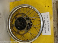 "83 YAMAHA XT600 ENDURO TT600 84 85 86 87 18"" rear back wheel rim hub sprocket"