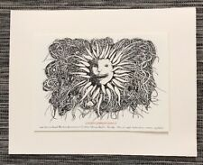 Leonard Baskin Hand Lithograph Birth Announcement of Grandson 1998 RARE Matted