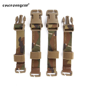"""Tactical Chest Rig / Vest Adapter Kit Set MOLLE Strap with 1"""" Buckle Clips"""